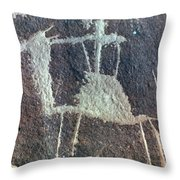 Neolithic Petroglyph Throw Pillow