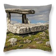 Neolithic Teleport - Portal Tomb In The Burren Throw Pillow