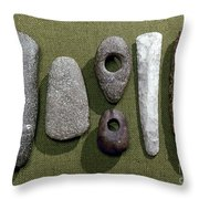 Neolithic Tools Throw Pillow