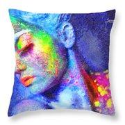 Neon Beauty Throw Pillow