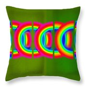 Neon Chain Throw Pillow