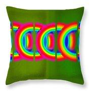 Neon Chain Throw Pillow