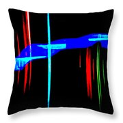 New Orleans Neon Christmas Frequency Abstract 1  Throw Pillow