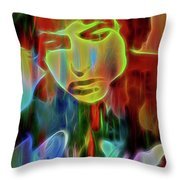 Neon Color Bob Dylan Throw Pillow