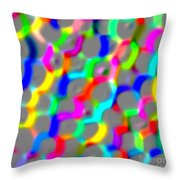 Neon Color Links Throw Pillow