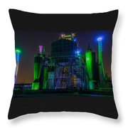 Neon Color Machinery Throw Pillow