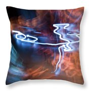 Neon Dance Throw Pillow