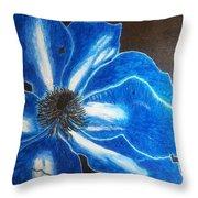 Neon Flower Throw Pillow