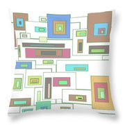 Neon Geometrics 2 Throw Pillow
