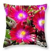 Neon Glow Throw Pillow
