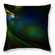 Neon God Throw Pillow