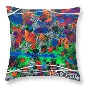 Neon Gumbo Throw Pillow