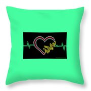 Neon Heart  Throw Pillow