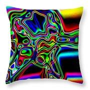 Neon Iris Throw Pillow