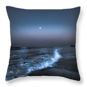 Neon Moon  Throw Pillow