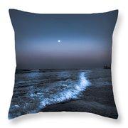 Neon Moon  Throw Pillow by Kim Loftis