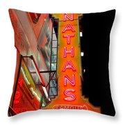 Neon Nathans Throw Pillow