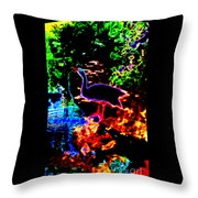 Neon Nature  Throw Pillow