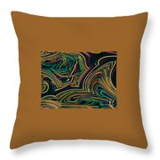 Neon Night Life Throw Pillow