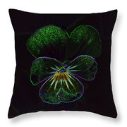 Neon Pansy Throw Pillow
