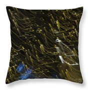 Neon Percussion Throw Pillow