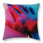 Neon Retrica Throw Pillow