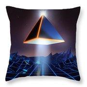 Neon Road  Throw Pillow