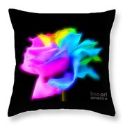 Neon Romance Throw Pillow