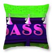 Neon Sassy Throw Pillow