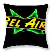 Neon Sign - Bel Air Motel - Wildwood Throw Pillow