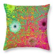 Neon Spring Throw Pillow