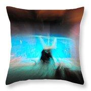 Neon Stick Throw Pillow