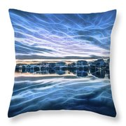 Neon Sunset Throw Pillow