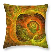 Angelic Script Y G O Throw Pillow