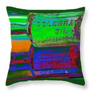 Neon Vessels Throw Pillow