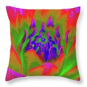 Neon Water Lily 02 - Photopower 3371 Throw Pillow