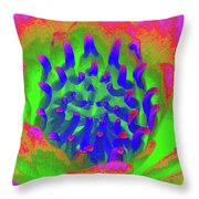 Neon Water Lily 03 - Photopower 3372 Throw Pillow