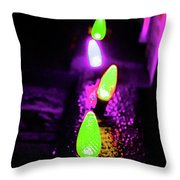 Neon Xlights Throw Pillow
