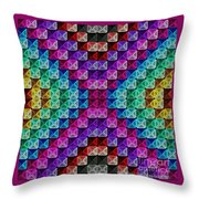 Neonbow Throw Pillow