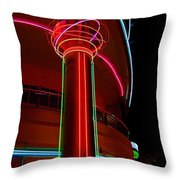 Neonopolis - Las Vegas Throw Pillow