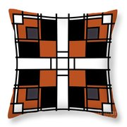 Neoplasticism Symmetrical Pattern In Tijuna Gamboge Throw Pillow