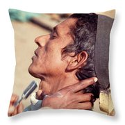 Nepal Shave Throw Pillow