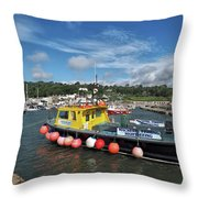 Neptune At The Harbour Throw Pillow
