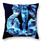 Neptune Door-knocker Throw Pillow