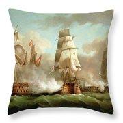 Neptune Engaging Trafalgar Throw Pillow by J Francis Sartorius