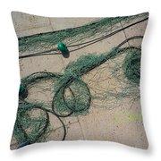 Neptune Green Throw Pillow