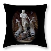 Neptune On Guard Throw Pillow