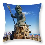 Neptune Virgina Beach  Throw Pillow