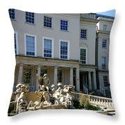 Neptunes Fountain Throw Pillow