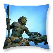 Neptune's Power Throw Pillow